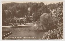 Lancashire/Cumbria postcard - Ornamental Grounds, Grange Over Sands