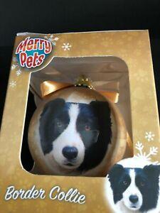 Home Decor Border Collie  Christmas Baubles Dog