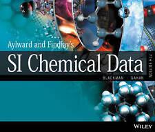 Aylward and Findlay's SI Chemical Data 7th Ed  Blackman Lawrie Gahan 2014 Sl