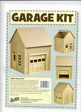 Garage Kit by Houseworks 9997 unfinished wood 1/12 scale dollhouse working door