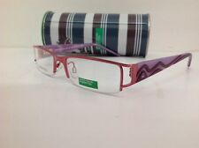 BENETTON occhiale vista junior mod 098 largo 12,7cm metallo fuxia plastica viola