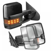 Power Fold Heated Extended Tow Mirrors Set For 14-18 Chevy GMC w/ Turn Signal