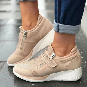 Womens Casual Sneakers Shoes Running Breathable Trainers Tennis Sports Size 6-10
