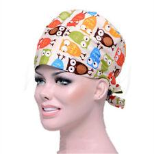 Men Women Cartoon Animal Printed Cotton Medical Cap Surgical Hat Scrub Cap