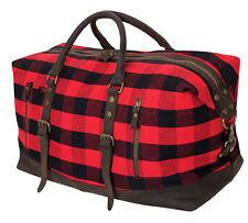 Large Weekend Bag Red Plaid Extended Weekender Bag Rothco 9086