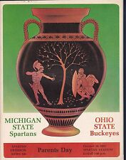 Michigan State Spartans vs Ohio State Buckeyes 1965 College Football Program