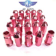 New Pink Universal 20pcs M12x1.5 Racing Wheel Rim Lug Nuts For Honda Ford Toyota