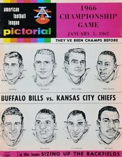 1966 AFL CHAMPIONSHIP PROGRAM PHOTO BUFFALO BILLS VS KANSAS CITY CHIEFS  8x10