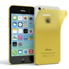Schutz hülle für Apple iPhone 5c Cover Handy Case matt gelb