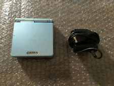 Game Boy Advance, GBA SP Pearl Blue System AGS 101 Bundle + Charger -- Tested