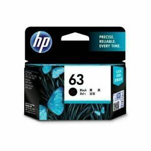 2 x Genuine HP63 ink cartridges F 6U62AA Black+F6U61AA Color for HP 2132,3630