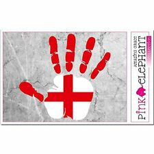 England - Hand Palm Finger Print Aufkleber Flag Sticker Motiv Britain English