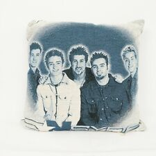 "N'Sync Throw Pillow Black White Boy Band Pop Music Justin Timberlake 17""x17"""
