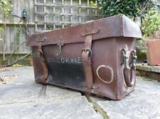 1941 WWII British Military RTR Officer's Mule Donkey Saddle Pack Leather Trunk