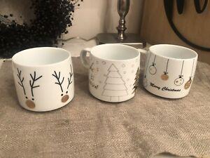 ASA Tassen Haferl Weihnachten Advent Kaffee Tee Glühwein 3 Stück Neu