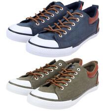 Tokyo Laundry Men's Low Top Canvas Sneakers Trainers Pumps Plimsolls Shoes