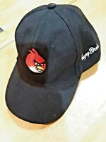 angry birds baseball cap hat black adult adjustable