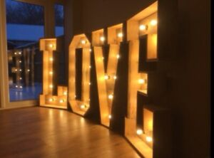 LARGE LOVE LETTERS WEDDING SIGN