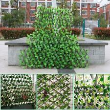 Expanding Trellis Fence Retractable Fence Artificial Garden Plant Leaves Protect
