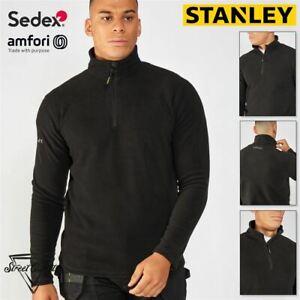 Stanley Hobson Microfleece Jacket Zip Top Work Fleece Pockets Warmth Lightweight