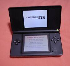 Nintendo DS Lite Handheld Console - Black Pw. cord adapter, stylus pin