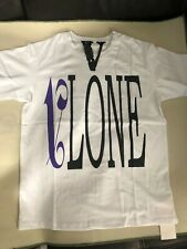 Purple V Palm angels X VLONE Short Sleeves T-shirt Color White Size Medium