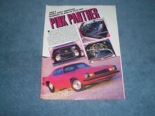 "1977 Chevy Camaro Z/28 Vintage Pro Street Article ""Pink Panther"""