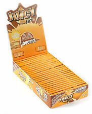 1 box - JUICY JAY'S size 1 1/4  LIQUORICE Flavored paper - 24 booklets