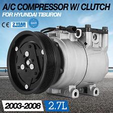 Up AC Compressor w/ Clutch for 2003-2008 Hyundai Tiburon 2.7L V6 58199 Seat