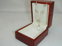 9CT GOLD NECKLACE WITH 0.10 CARAT REAL DIAMOND 18INCH BRAND NEW