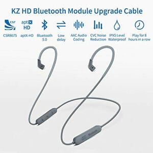 KZ APTX HD CSR8675 Bluetooth 5.0 IPV5 MMCX 0.75mm 0.78mm Neckband Upgrade Cable