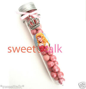 PRINCESS PARTY FAVOUR, CHOCOLATES CANDY TEST TUBE, LOLLY STICK