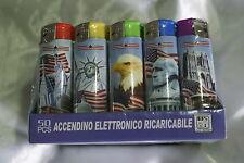 50 pezzi Accendini elettrici riacricabili piezo elettrico smoking da collezione