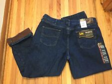 Lee Denim Fleece Lined Jean 42x30 New w/ tags Relaxed Fit Straight Leg