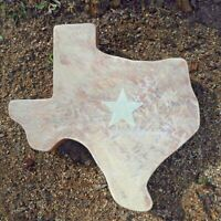 """Texas stepping stone mold 23"""" x 22"""" x 2"""" huge! poly plastic cast 100's"""