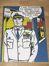 "Roy lichtenstein poster ""Mr. Bellamy"" BD pop art affiche en MINT"