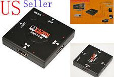 HDMI MINI SWITCH BOX SPLITTER 3 INPUT 1 OUTPUT 1080P for HD TV XBOX PS3 SKY DVD