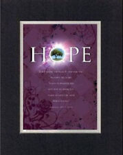Inspirational Poem - Hope For I know the Plans . . . BlackOnWhite DoubleMatting