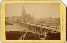 VINTAGE PHOTO DRESDEN vom HOTEL STADT WIEN J. F. STIENM BERLIN 1882 CABINET CARD