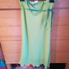 Long skirt neon green 100 polyester Size small
