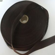 DOUBLE SIDED SATIN RIBBON - 5 metres DARK BROWN  15mm wide