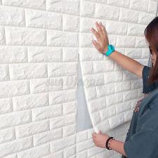 10 tlg 3D Tapete Wandpaneele Selbstklebend Ziegel Wandaufkleber Weiß 70 x 77 cm