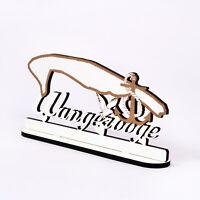 Schild « Wangerooge » zum Hinstellen Anker Möwe Herz maritim Dekoration Nordsee
