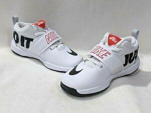 Nike Team Hustle D 8 (TD) White/Black/Crimson Toddler Boy's Shoe-Sz 6/7/8/9/10C