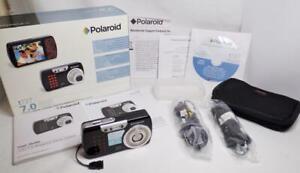 POLAROID t737 7.0 MEGA PIXEL 3X OPTICAL 4X DIGITAL ZOOM CAMERA W/BOX ACCESSORYS