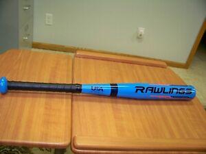 "NEW!! Youth Rawlings USA Baseball T-Ball 24"" Bat - Metal Alloy  - Powder Blue"
