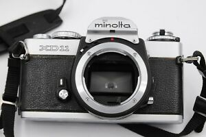 Minolta XD-11 Chrome 35mm Film SLR Camera Body