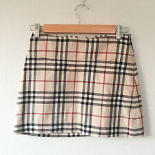 Authentic BURBERRY LONDON Skirt Check size UK6 US4  Cotton Made in Italy VG