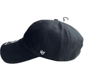Chicago Blackhawks '47 Brand Black Clean Up Adjustable Dad Hat