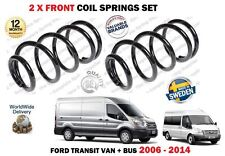 FOR FORD TRANSIT VAN BUS 2006-2014 NEW 2X FRONT LEFT + RIGHT COIL SPRINGS SET